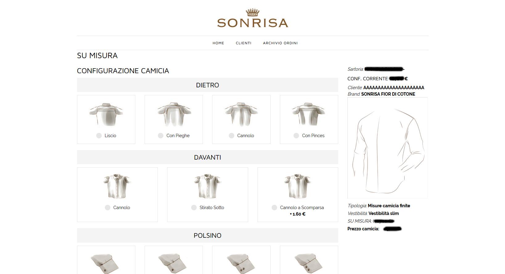 SU MISURA – Brand SONRISA – Gruppo V&V